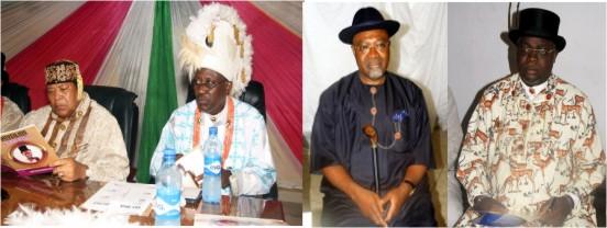 King Jaja of Opobo and Chief Kalaowolo, Chairman ODDC , Senator Abye sekibo and Sentor Thompson sekibo